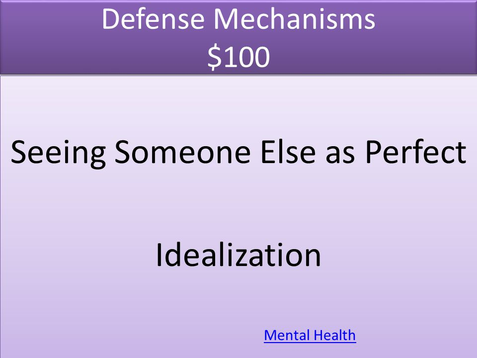 Defense Mechanisms $200 Covering up for weakness and mistakes by gift-giving, hard work and extreme efforts.