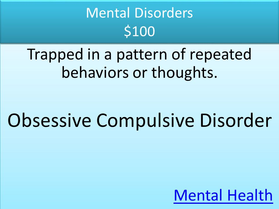Mental Disorders $200 Feelings of sadness, hopelessness or despair lasting a few weeks interfere with daily activities and interests.