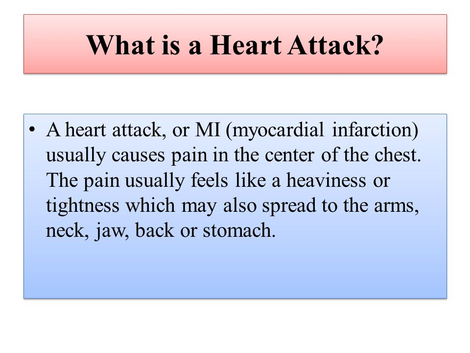 What is a Heart Attack.