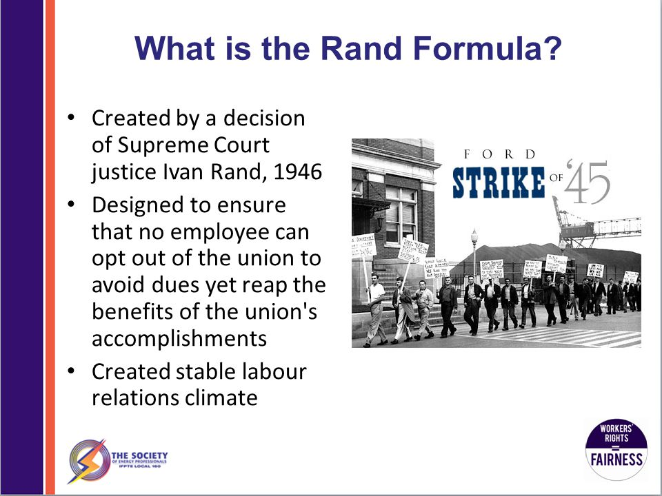 What is the Rand Formula.
