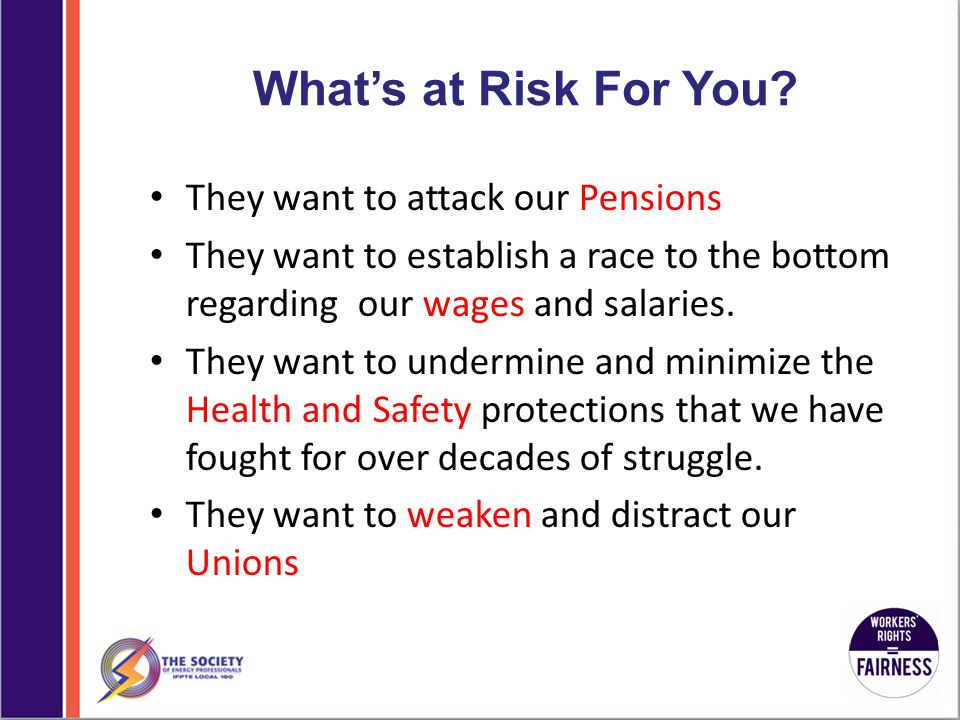 What's at Risk For You.