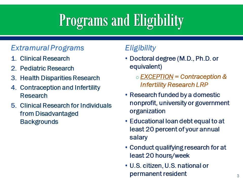 NIH will repay: Educational loans guaranteed by the U.S.
