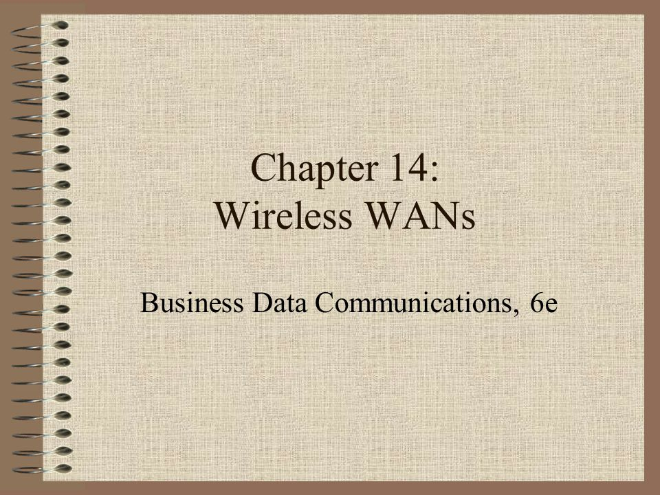 2 Reasons for Wireless Networks Mobile communication is needed.