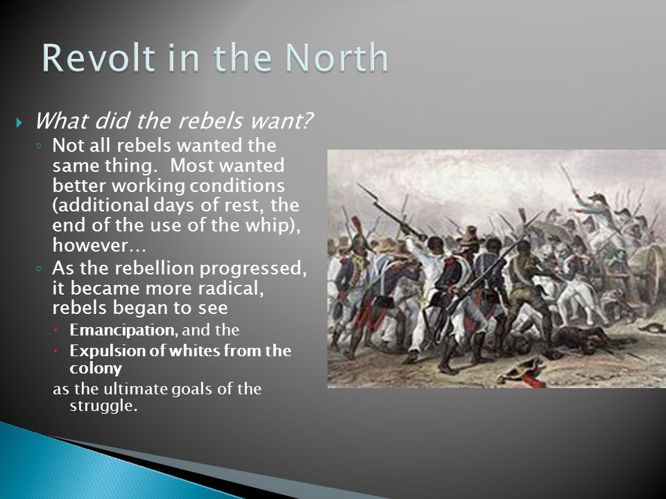  What did the rebels want. ◦ Not all rebels wanted the same thing.