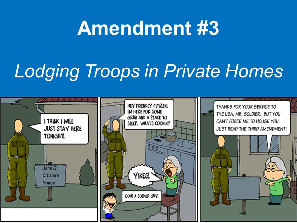 Amendment #3 Lodging Troops in Private Homes