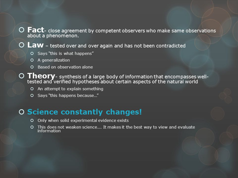The most important lesson of the year  BE SCIENTIFIC IN YOUR THINKING  Base opinions/claims on evidence  What is unscientific about these claims.