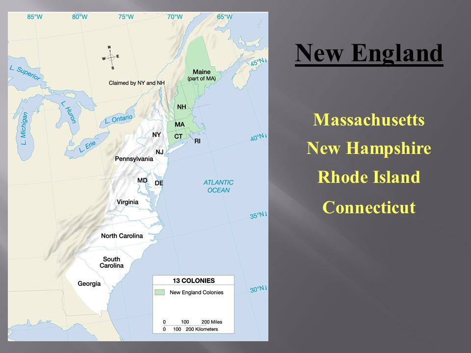 New England Massachusetts New Hampshire Rhode Island Connecticut