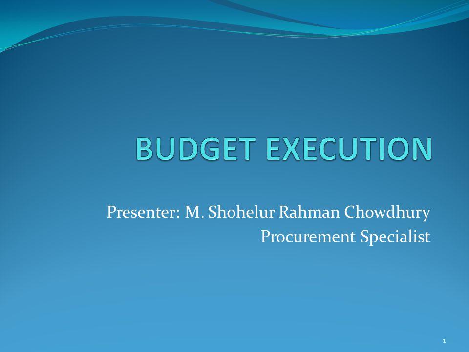 Presenter: M. Shohelur Rahman Chowdhury Procurement Specialist 1