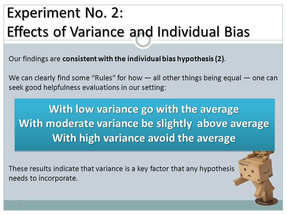 Our findings are consistent with the individual bias hypothesis (2).