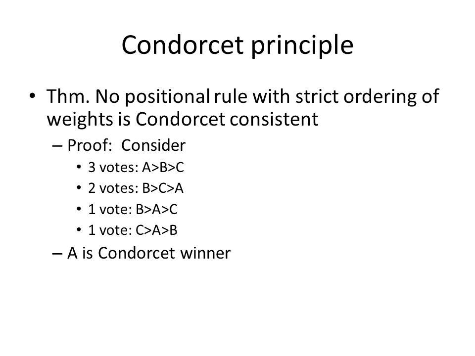Condorcet principle Thm.