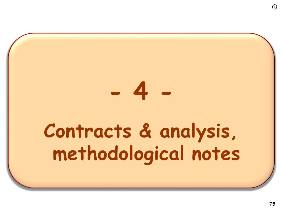 74 Contracts for testing Contracts provide the right basis:  A fault is a discrepancy between intent and reality  Contracts describe intent A contract violation always signals a fault:  Precondition: in client  Postcondition or invariant: in routine (supplier) In EiffelStudio: select compilation option for contract monitoring at level of class, cluster or system.