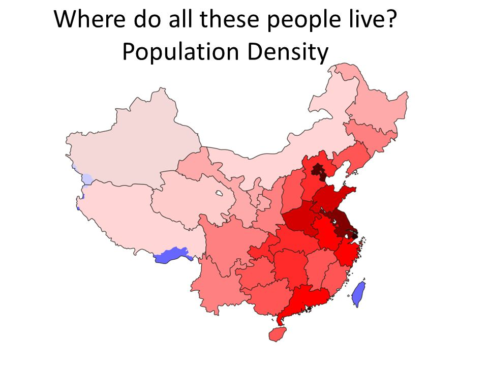 Where do all these people live? Population Density