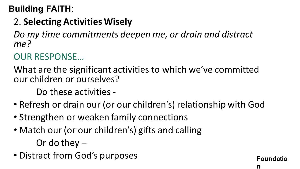Building FAITH: 2.