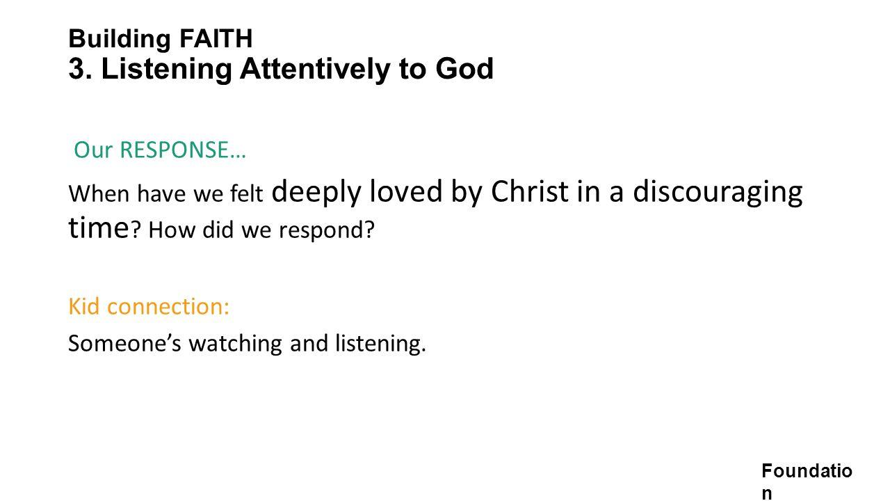 Building FAITH 3.