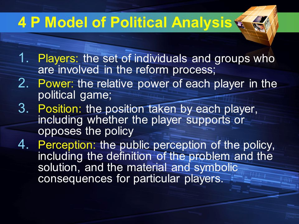 4 P Model of Political Analysis 1.