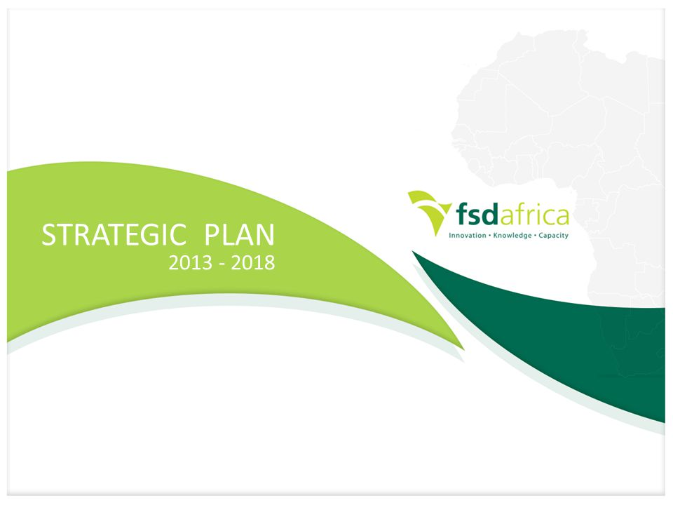 STRATEGIC PLAN 2013 - 2018