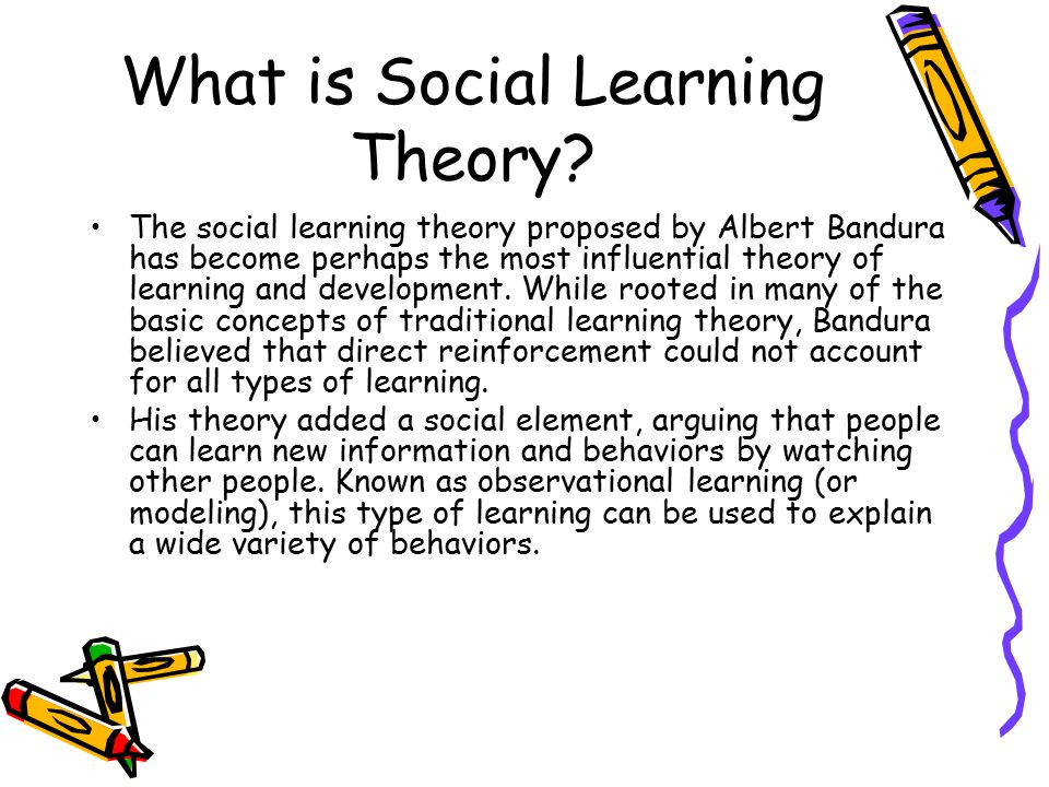 What is Social Learning Theory.