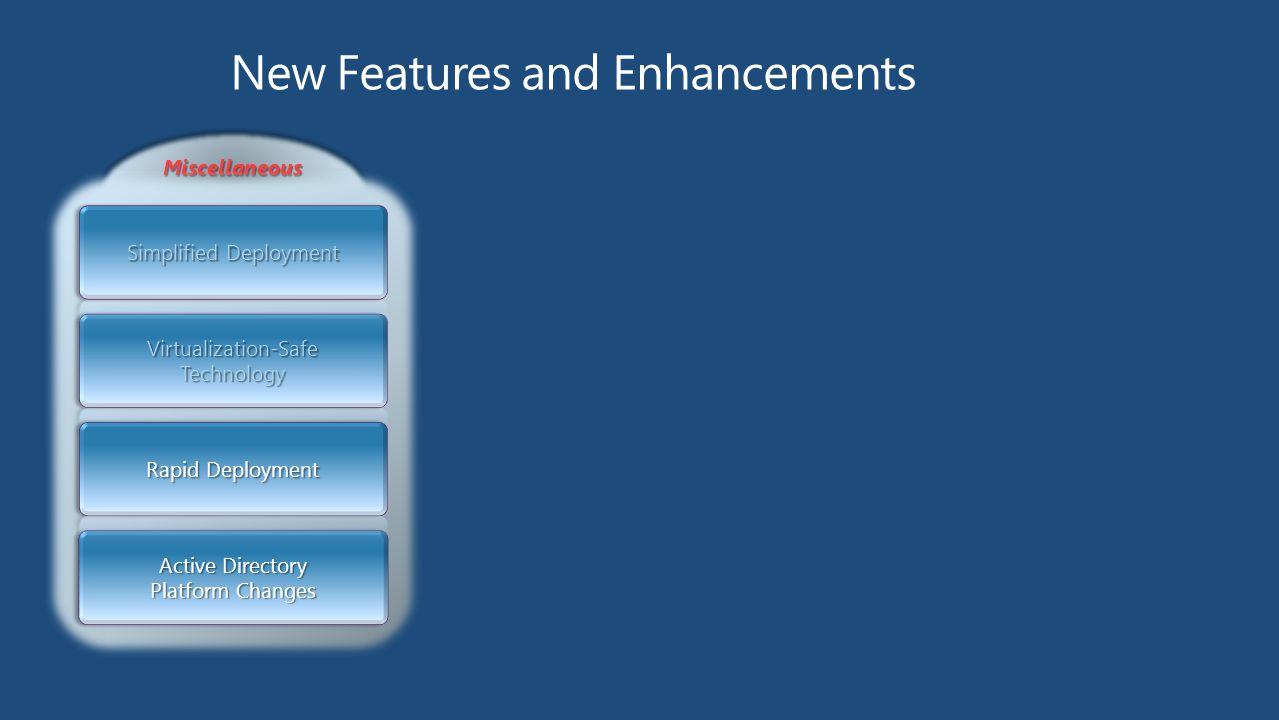 MiscellaneousMiscellaneous Active Directory Platform Changes