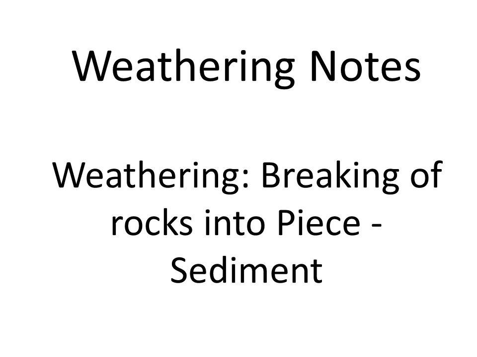 1.Erosion by Gravity - Pulls rocks down hill. Example: Landslides and Slumps Land-slide