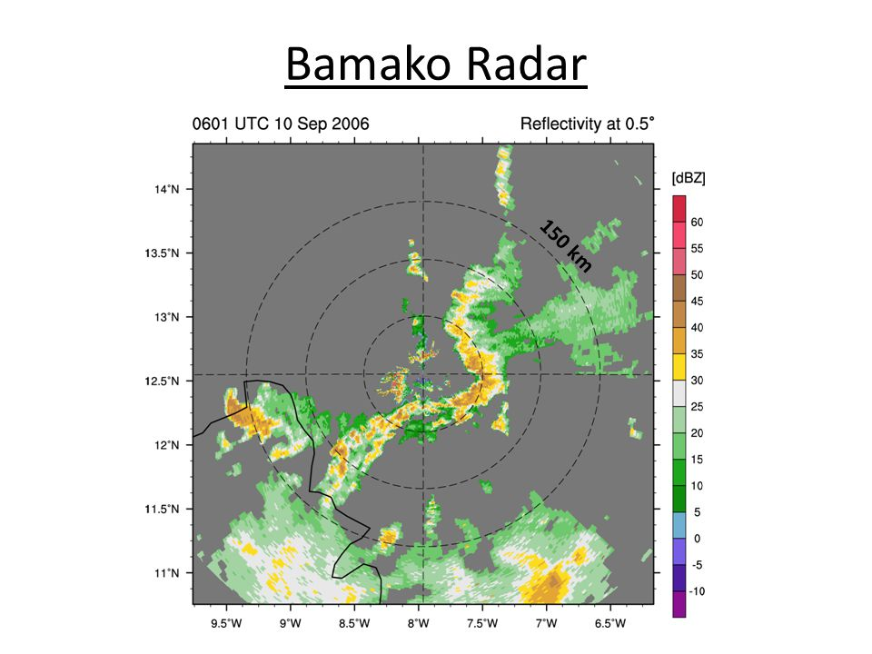 Bamako Radar 150 km