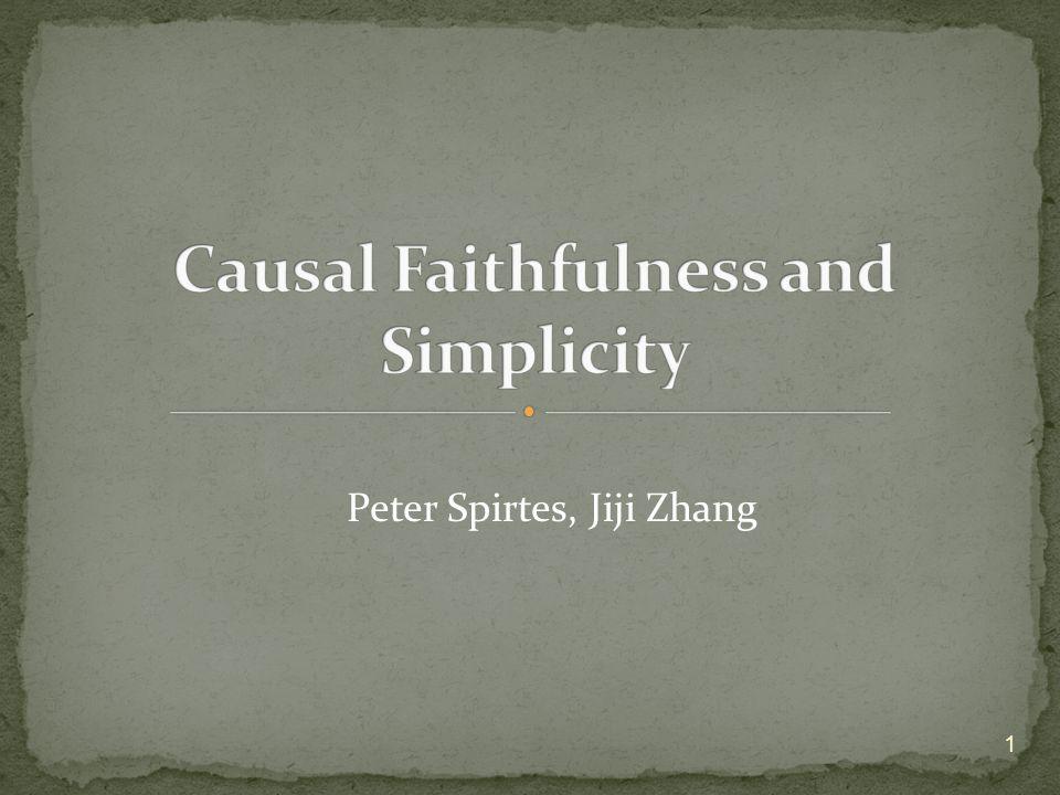 Peter Spirtes, Jiji Zhang 1