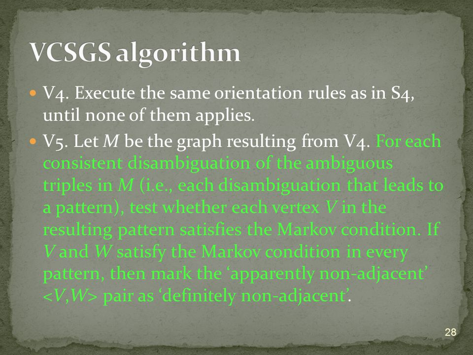 V4. Execute the same orientation rules as in S4, until none of them applies.