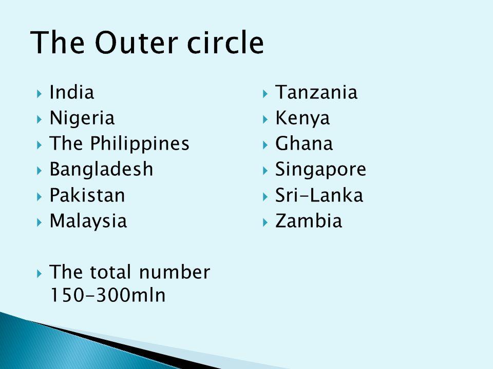  India  Nigeria  The Philippines  Bangladesh  Pakistan  Malaysia  The total number 150-300mln  Tanzania  Kenya  Ghana  Singapore  Sri-Lanka  Zambia