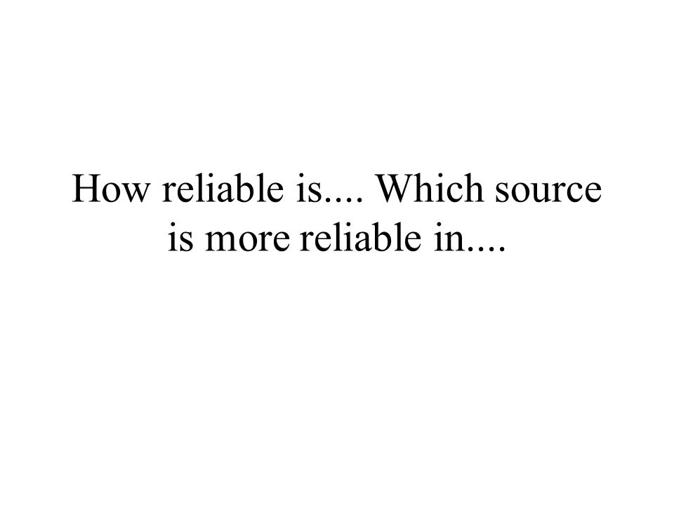 Reliability How do I answer these questions.i. e.