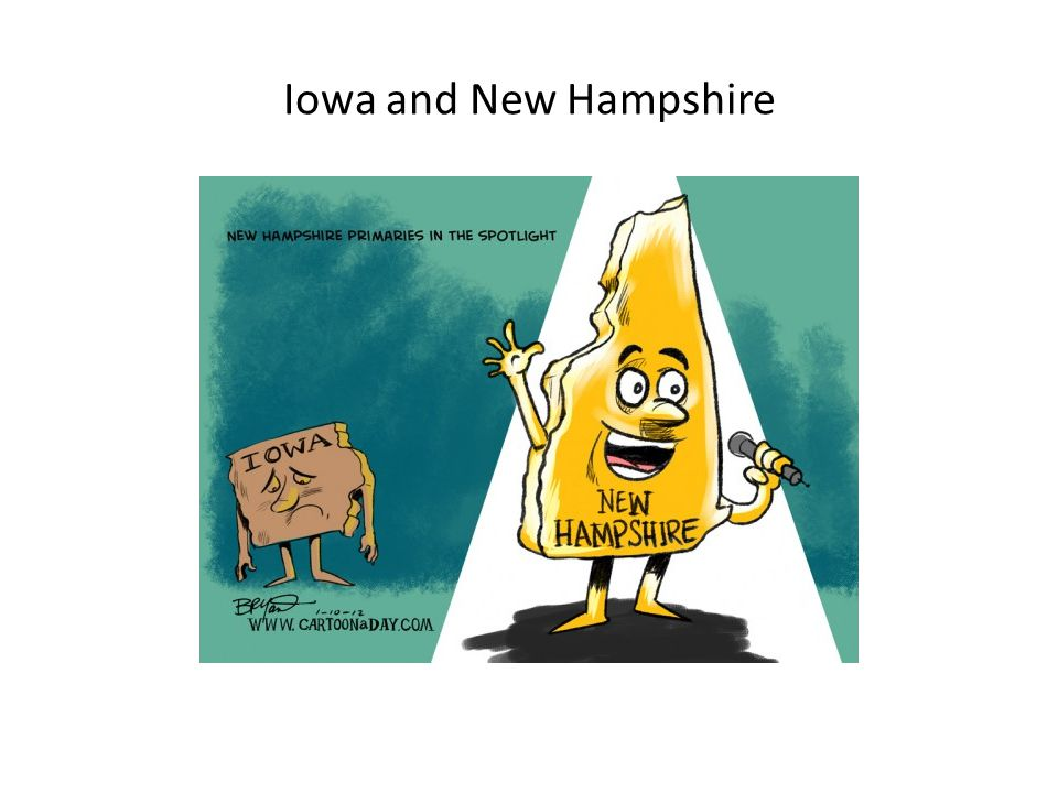 Iowa and New Hampshire