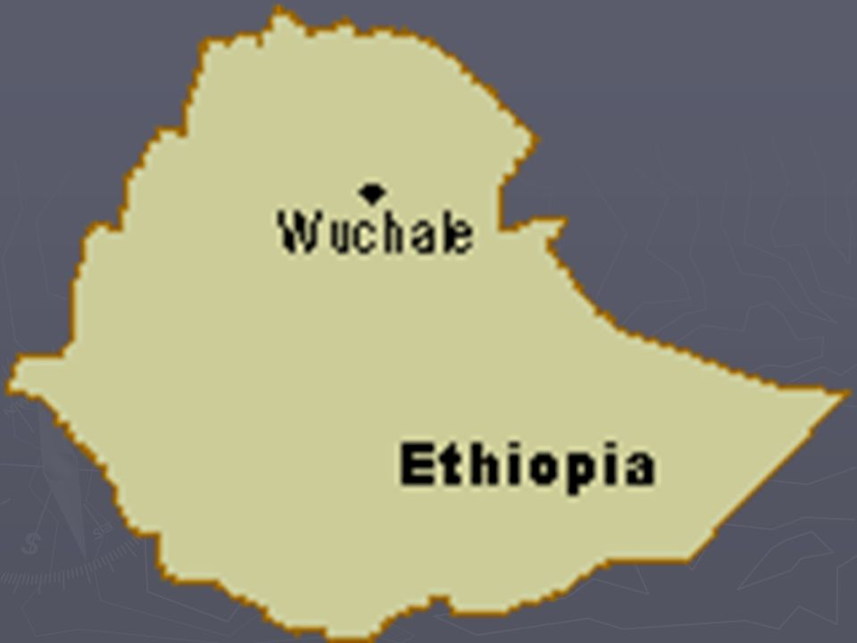 Treaty of Wuchale (Uccialli) ► Agreement through which the whole of Ethiopia could be turned into Italian protectorate ► May 2, 1889 Treaty of Wuchale: according to Italian interpretation, Ethiopia not only recognised Italian control on Eritrea, but also became an Italian protectorate ► 1890 Eritrea became Italian colony