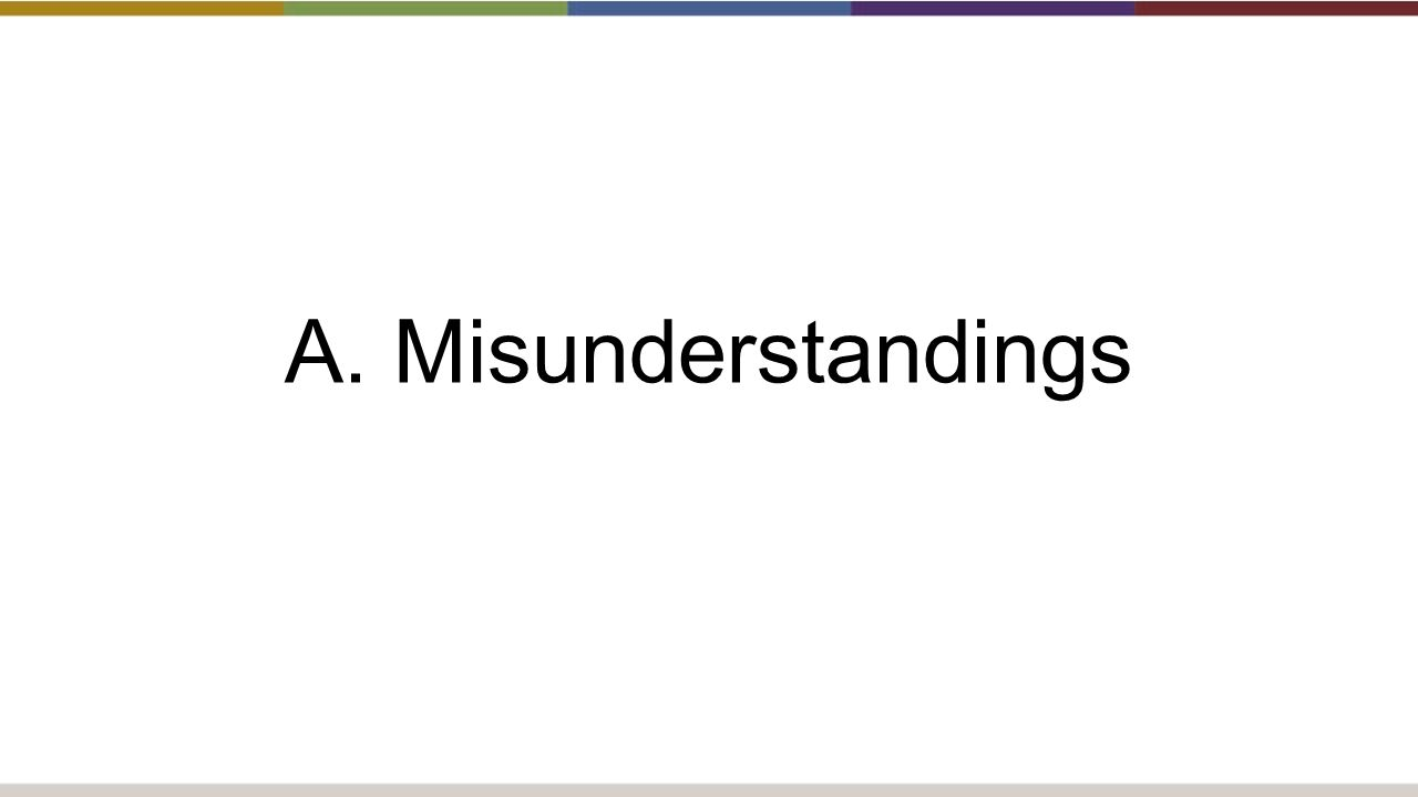 A. Misunderstandings