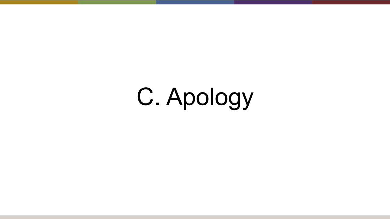 C. Apology
