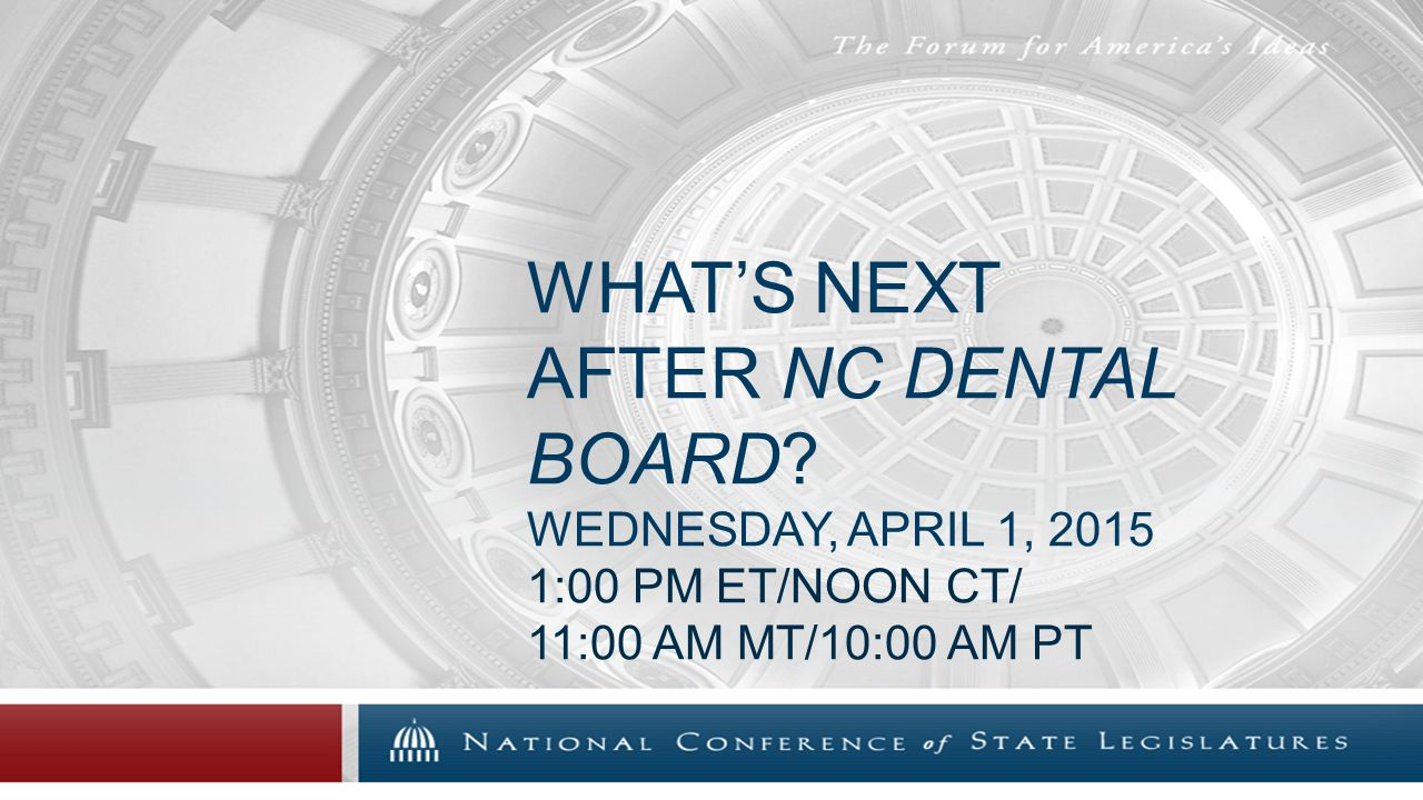 WHAT'S NEXT AFTER NC DENTAL BOARD.