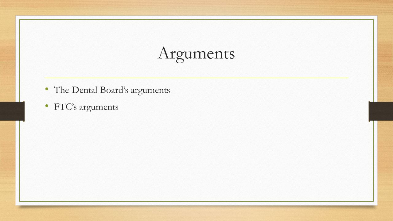 Decision Majority view of the case Dissent view of the case