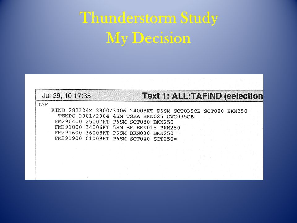 Thunderstorm Study My Decision