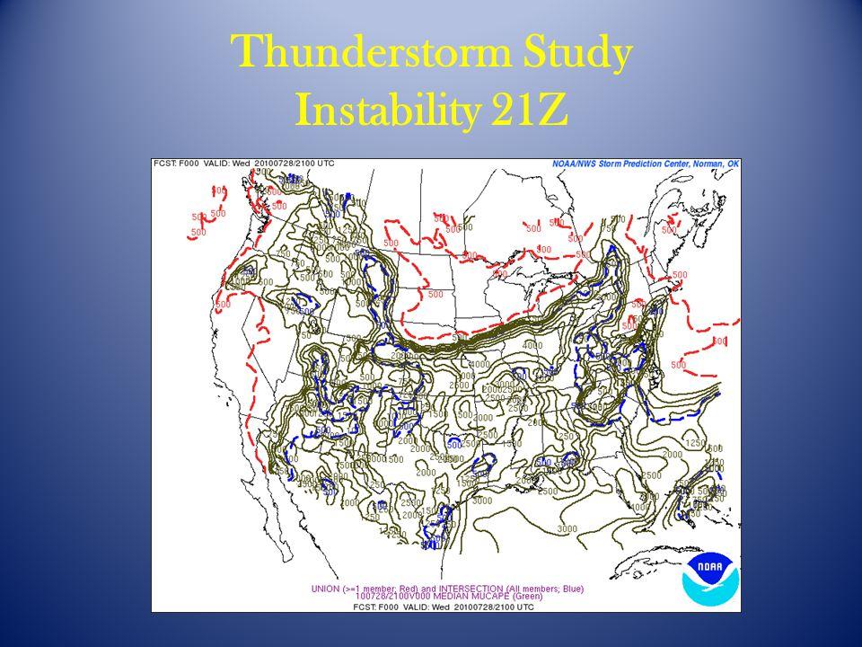 Thunderstorm Study Instability 21Z