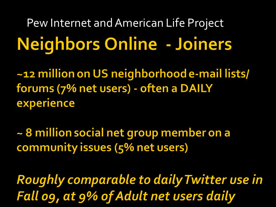Pew Internet and American Life Project