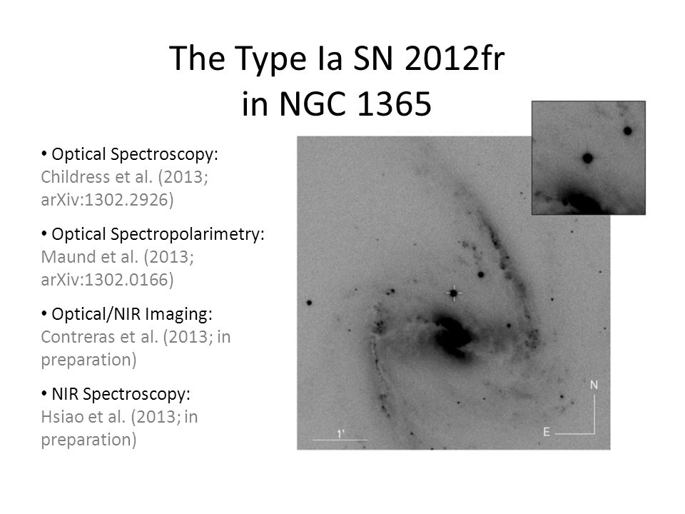 The Type Ia SN 2012fr in NGC 1365 Optical Spectroscopy: Childress et al.