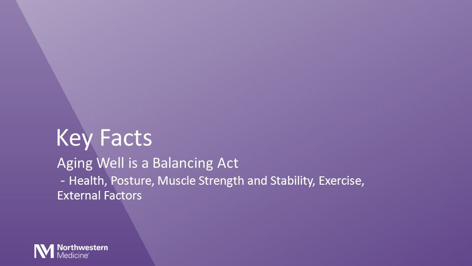 Key Facts Aging Well is a Balancing Act - Health, Posture, Muscle Strength and Stability, Exercise, External Factors