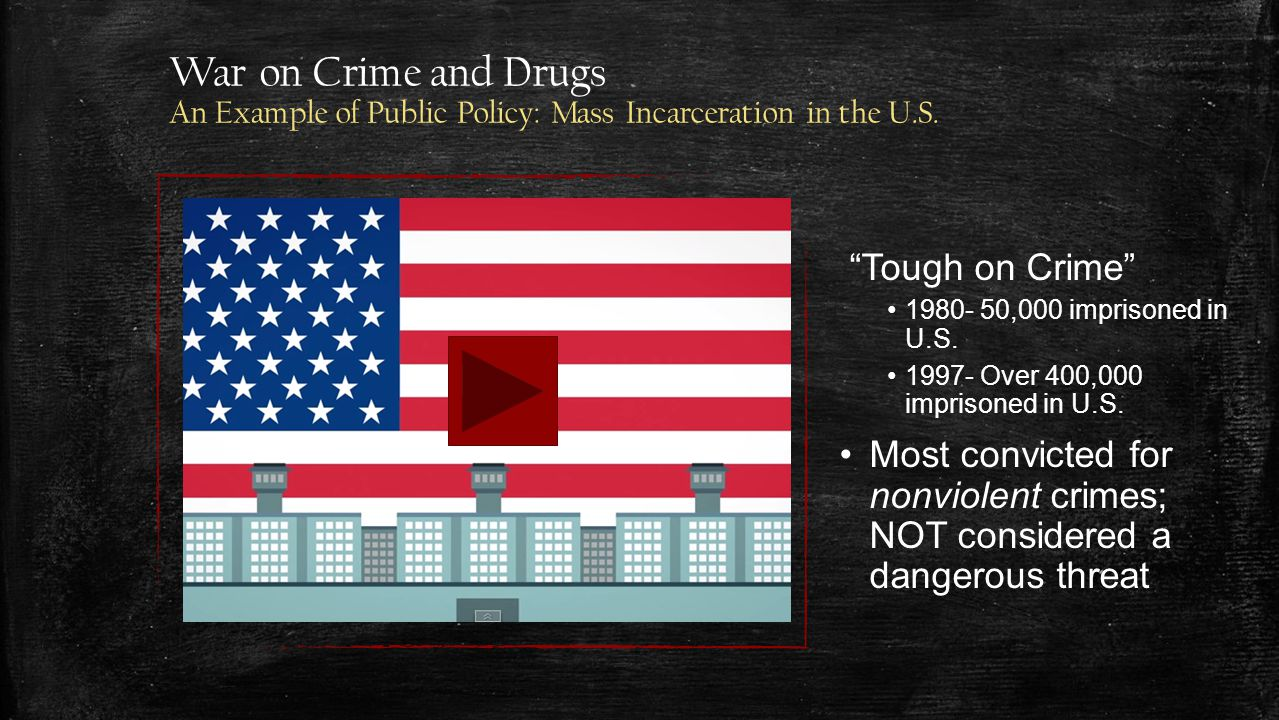War on Crime and Drugs An Example of Public Policy: Mass Incarceration in the U.S.