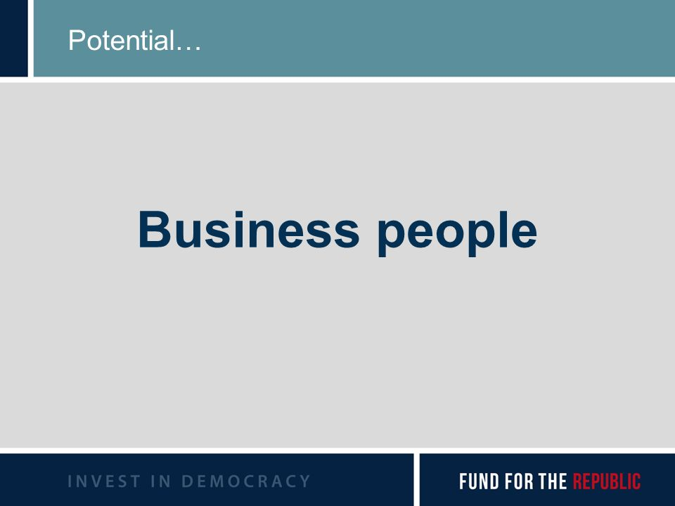 Potential… Business people