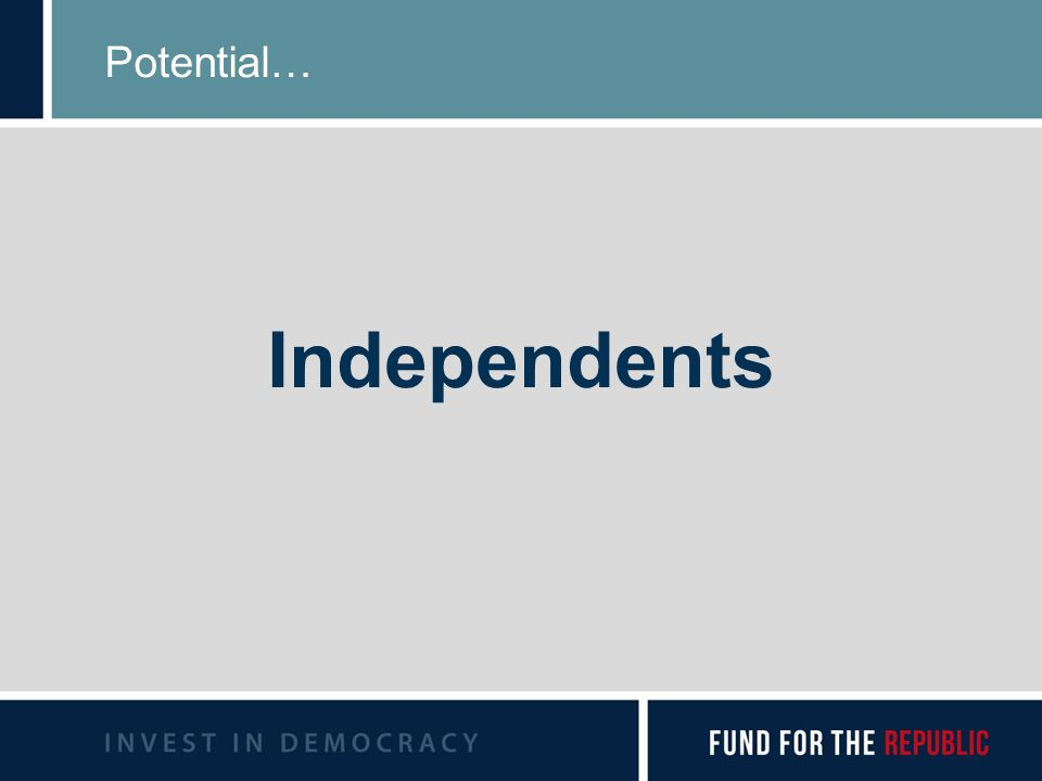 Potential… Independents