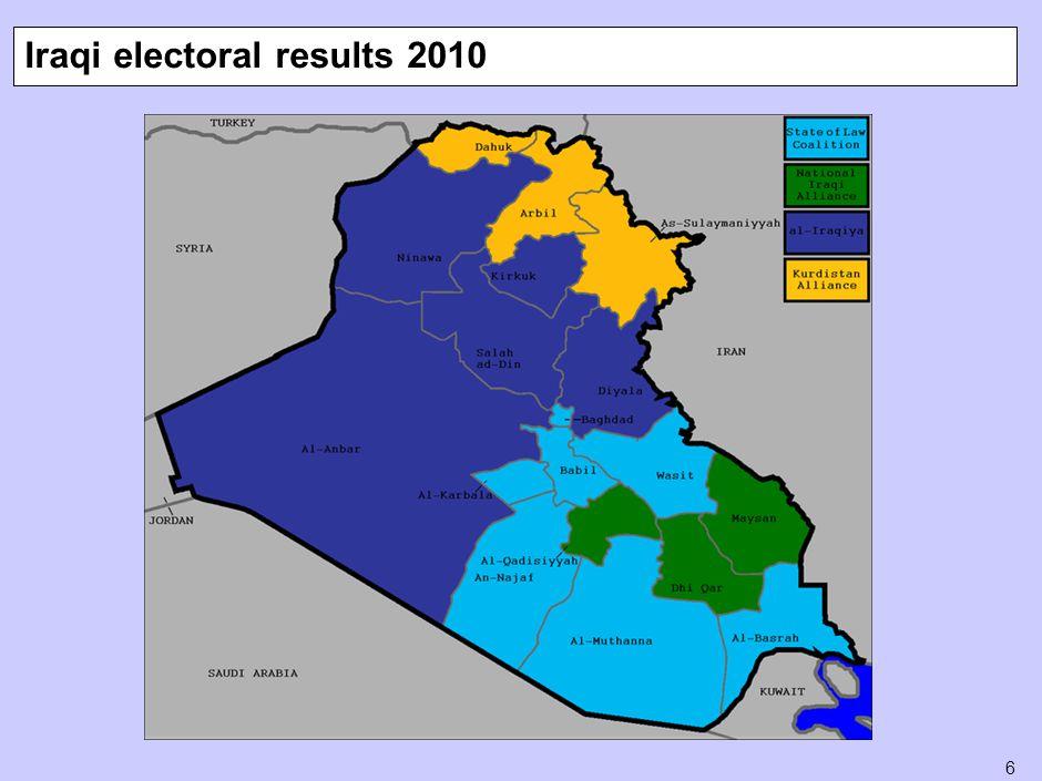 6 Iraqi electoral results 2010