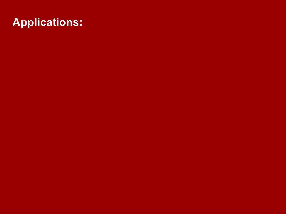 Applications:
