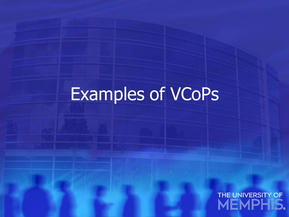 Examples of VCoPs