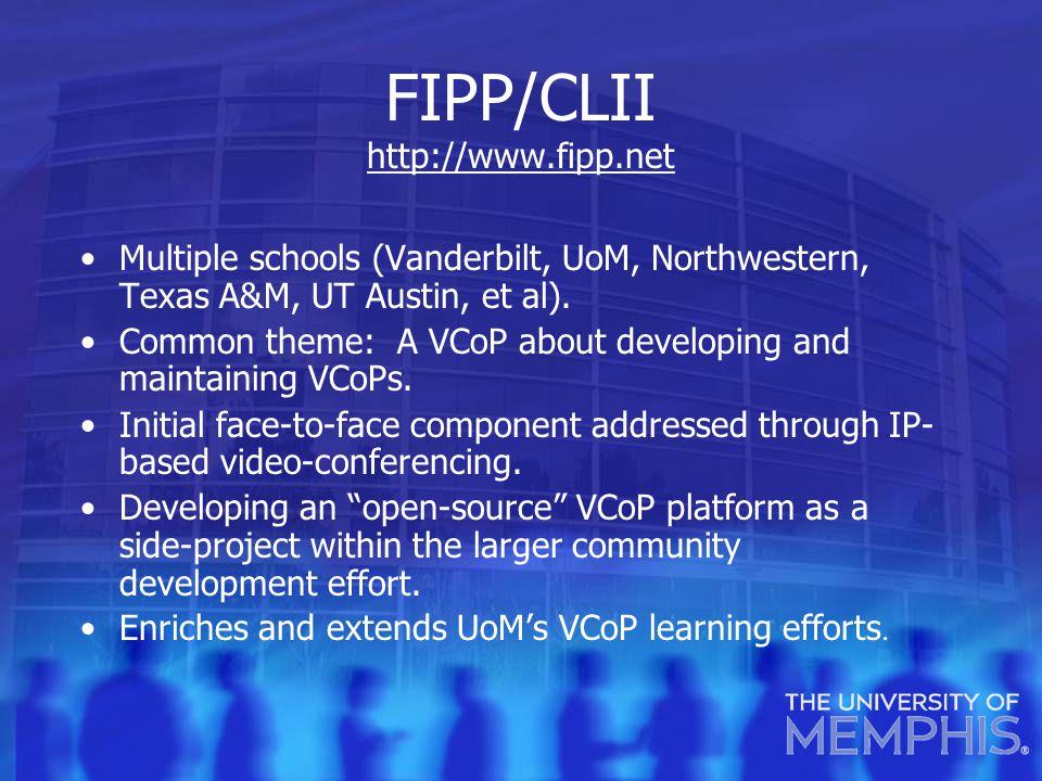 FIPP/CLII http://www.fipp.net http://www.fipp.net Multiple schools (Vanderbilt, UoM, Northwestern, Texas A&M, UT Austin, et al).