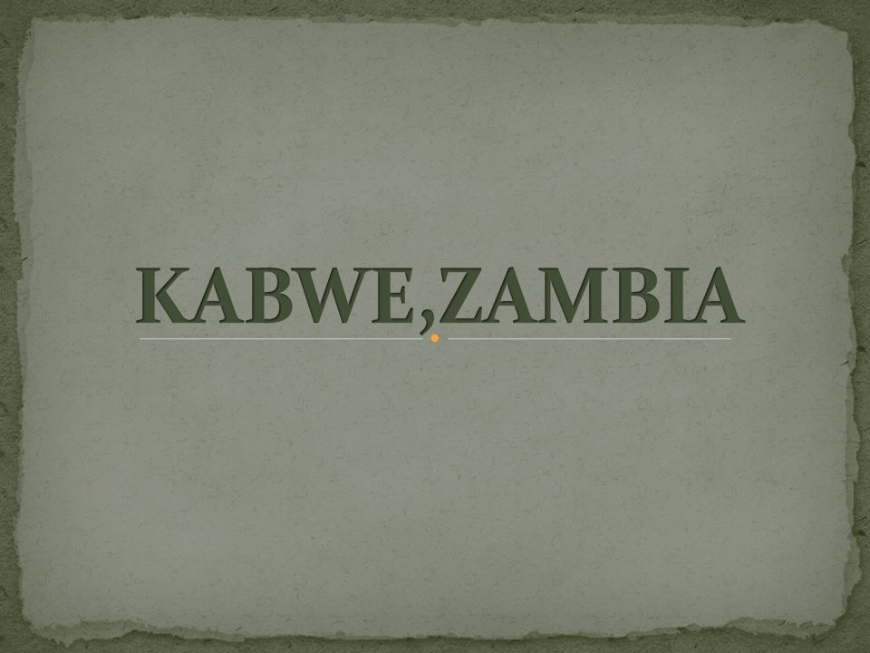 Kabwe is the second largest city in Zambia.150 kilometres north of the nation's capital, Lusaka.