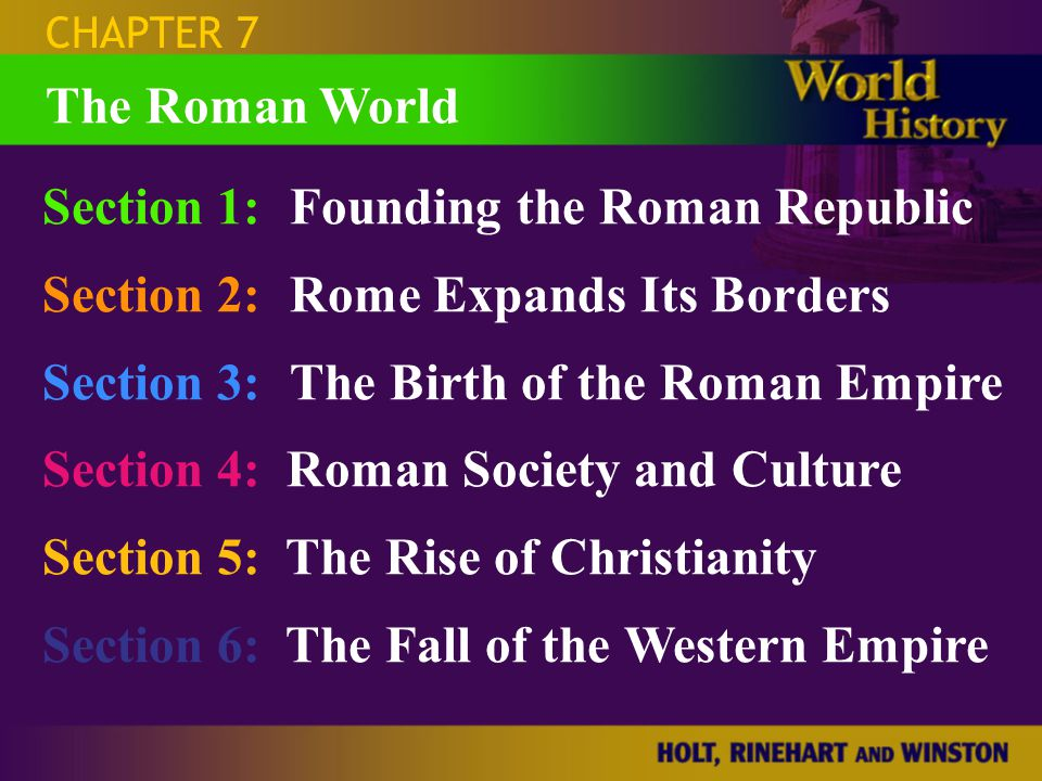 SECTION 6 Question: What were the causes of the fall of the Roman Empire in the West.