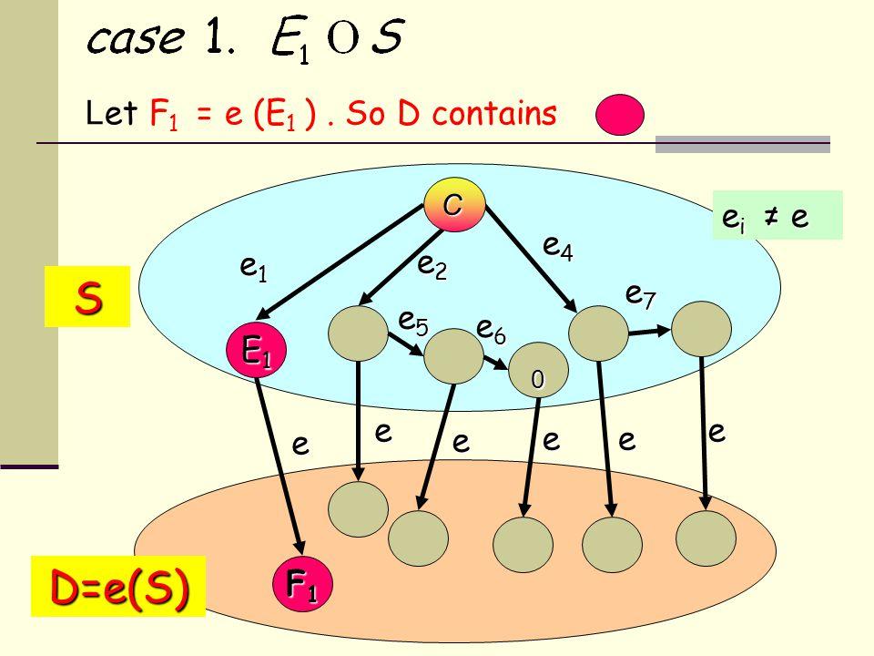 L et F 1 = e (E 1 ).