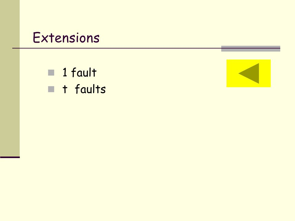 Extensions 1 fault t faults
